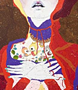 Detail from 'Confetti Rain' by Del Kathryn Barton