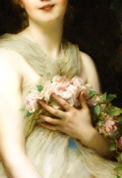 Detail from Jeune Femme by Adolphe Etienne Piot