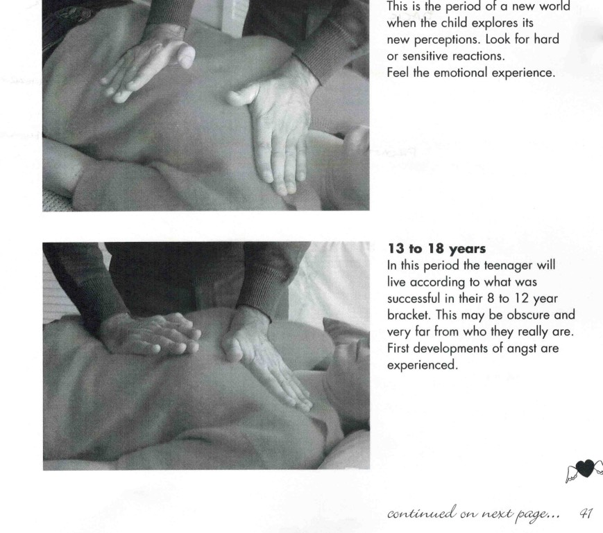 Serge Benhayon makes breast contact, Sacred Esoteric Healing Advanced Level 2 Workshop manual, p.41