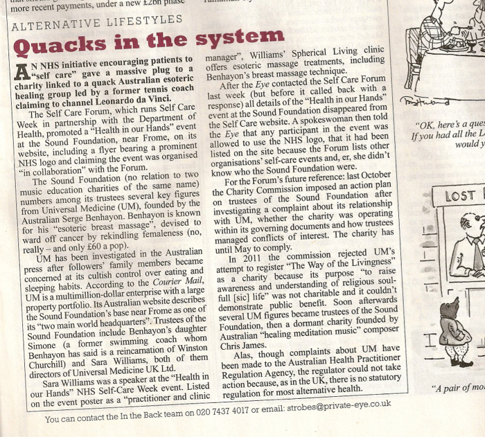 Private Eye, Number 1359, 7-20 February 2014, p.33