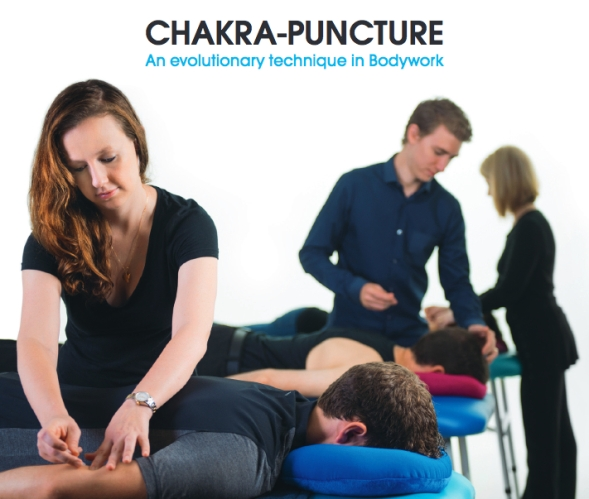 Benhayons working chakra-puncture for Evolve College
