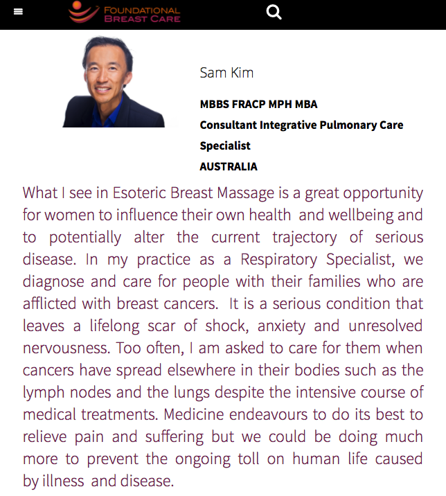 Foundational Breast Care Dr Samuel Kim